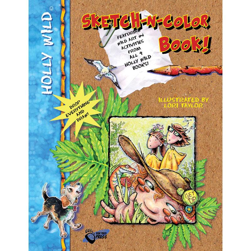 HOLLY WILD: Sketch-n-Color Book!
